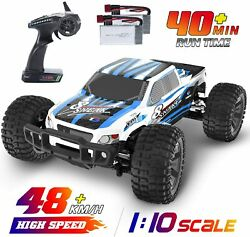 4WD RC Cars 1:10 High Speed 48 kmh Remote Control Car 2 Batteries Monster Truck $115.99