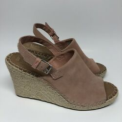 Toms Womens The Monica Bloom Suede Wedge Size 11 Espadrilles 10011857 $29.99