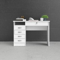 White Computer Desk Laptop Table Study Workstation Home Office W5 Drawers $229.99