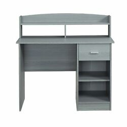 Techni Mobili Techni Mobili Modern Office Desk with Hutch Grey $153.60