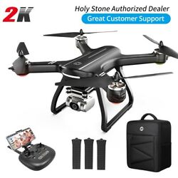 Holy Stone HS700D GPS Drone 2K HD Camera Quadcopter Brushless 3 Battery Backpack $249.99
