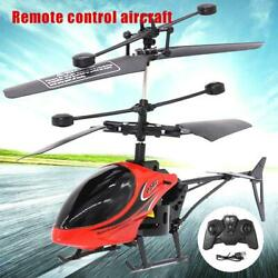 Small RC Helicopter Aircraft Radio Remote Control LED Kids Gift DF $13.43