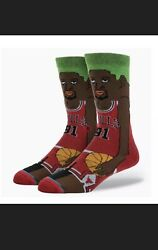 Chicago Bulls Dennis Rodman Stance Socks Men Shoe Size Large 9 12 The Last Dance $7.50