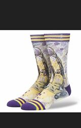 Shaquille O'Neal LA Lakers NBA Stance Socks Mens Shoe Size Large 9 12 Kobe Rare $7.50