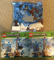 LEGO MINECRAFT THE ICE SPIKES SET 100% COMPLETE WITH MANUALS 21131 $85.00