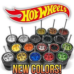 Hot Wheels STAR DEEP DISH 5 Spoke Real Riders Wheels and Tire Set for 1 64 Scale $5.99