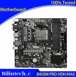 FOR MSI B450M PRO VDH MAX Motherboard Supports 3700X AMD DDR4 64GB AM4 $247.61