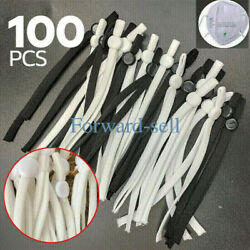 50 100 PCS Sewing Elastic Band Cord with Adjustable Buckle for DIY Mask Sewing $9.99