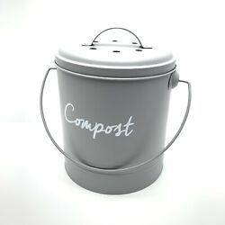 Compost Farmhouse Kitchen Compost Bin for Kitchen 2 Fruit Fly Filters Eléver New $28.50