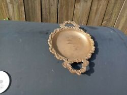 Vintage Brass Change Dish Trinket Tray $8.90