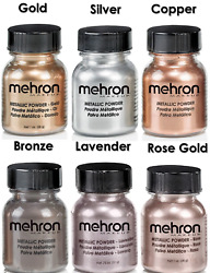 MEHRON METALLIC POWDER THEATRICAL STAGETVFACEBODYMAKEUP POWDER PICK ANY $10.88