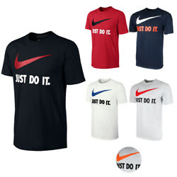 Nike Men#x27;s Active Wear Just Do It Swoosh Graphic Athletic Workout Gym T Shirt $18.79
