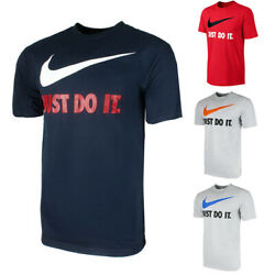 Nike Men#x27;s Active Sportswear Short Sleeve Just Do It Swoosh Gaphic T Shirt $17.85