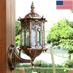 Retro Exterior Wall Lights Fixtures Outdoor Lantern Sconce Porch Lights Lamps