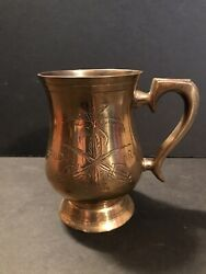 Decorative Brass Cup With Handle From Saudi Arabia $11.90