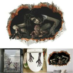 Halloween 3D Scary Wall Stickers Decoration Art Ghost Mural Bloody Party Decals $7.49