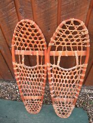 OLD Snowshoes 35quot; Long x 11quot; Wide BEAR PAW For DECORATION $39.93