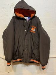 Vintage Cleveland Browns Competitor NFL Game Day Men#x27;s Medium Puffer Jacket $29.99