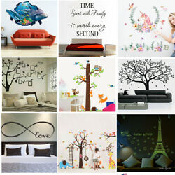 Removable Wall Stickers Room Modern Decor Animal Tree DIY Art Vinyl Mural US $6.25