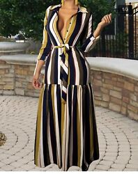 Womens Summer Long Maxi Dress Casual Home Beach Party Sundress Size: Large $20.00