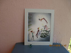 vintage illustration of fairies from Peter Pan story 1943 $12.50