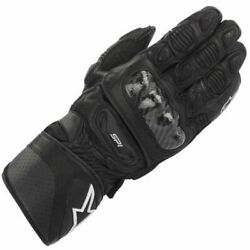Leather Motorcycle Gloves gt; Alpinestars SP 1 Carbon Fibre Perforated Black GBP 116.99