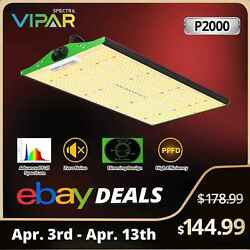 VIPARSPECTRA P2000 LED Grow Light Full Spectrum for Indoor Plants Hydroponics $138.89