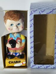 Classic Novelty Bowling Champ Ceramic Collectible Bobblehead $8.99