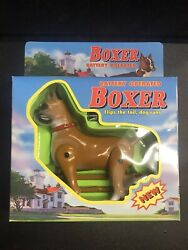 90s Rare Vintage Boxer Dog Battery Operated Moving 1999 Funmax Toys New in Box $17.00