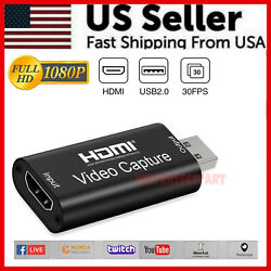 HDMI to USB Video Capture Card 1080P Recorder Phone Game Video Live Streaming US $7.49