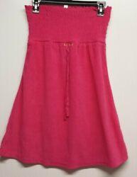 St eve Velour Bathing Suit Cover Up Dress Womens Small Strapless Deep Pink $12.99