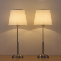 Set of 2 Modern Bedside Lamps Table Desk Lamps Nightstand Lamps Bedroom Office $41.99