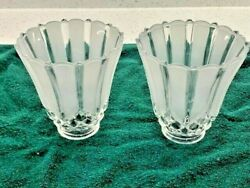 Scalloped crystal and frosted glass globes set of 2 Cut glass crystal look $19.99