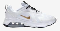 Nike Air Max 200 White Metallic Gold Black Men's Shoes AQ2568 102 sz 8 13 $69.99