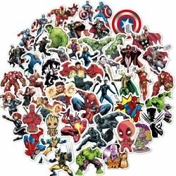 104pc Superhero Video Game Anime Vinyl Stickers Pack for Hydro Flask Laptop Car $6.99