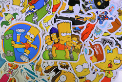 66pcs The Simpsons Vinyl Stickers for Truck Skateboard Luggage Laptop Decal USA $6.99