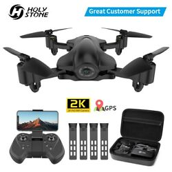 Holy Stone HS165 GPS FPV Drones with 2K Camera Foldable RC Quadcopter Follow Me $23.99