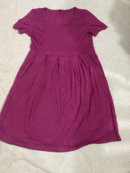 Women Comfortable Summer Midi Dress with Pockets size M $17.00