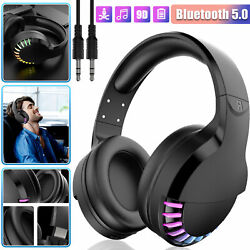 Bluetooth 5.0 Headset Wireless Stereo Bass Headphones Over Ear Noise Cancelling $29.97