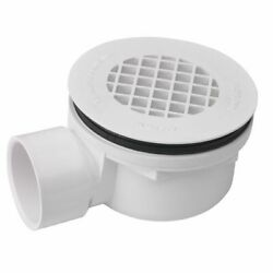 Mustee 82.400A Drain Assembly for Shower Floor WHITE PVC SIDE OUTLET $54.84