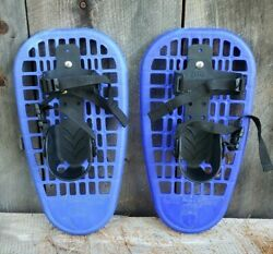 Little Bear Grizzly Youth Kids Snowshoes Blue Ages 5 12 Up to 100 lbs $20.65