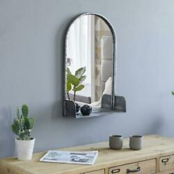 Arched Wall Mirror With Shelf Metal Frame for Living Room Bedroom Bathroom $39.99
