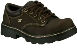NEW Hiking Women#x27;s SKECHERS Party Mate 45120 Brown Oxford Size 6.5 Classy $24.00