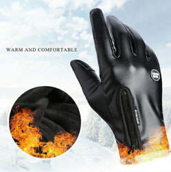Mens Winter Tactical Motorcycle Mitten Leather Touchscreen Warmer Driving Gloves $12.99
