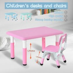 Children#x27;s Combined Study Table Plastic Work Table Can Be Raised And Lowered $89.99