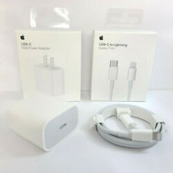 Apple 18W Power Adapter and USB C to Lightning Cable 3FT 1M iPhone 12 11 XS X $15.99