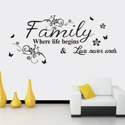 Family Decor Removable Wall Stickers Letter Quote Vinyl Decal Art Mural Best $6.75