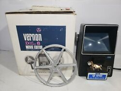 VERNON Sansei Koki 808 DUAL Deluxe 8mm amp; Super 8 Movie Editor Splicer