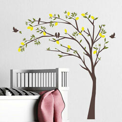 Home Stickers Decor Background Bedroom Self adhesive Tree amp; Bird Wall PVC Decals $9.42