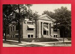 RPPC BELLEFONTAINE OHIO OH PUBLIC LIBRARY COMMERCIAL POST CARD CO. RPPC